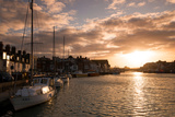 Sunset in the Harbour at Weymouth, Dorset England UK Photographic Print by Tracey Whitefoot