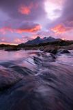 Sunset at Sligachan Bridge, Isle of Skye Scotland UK Photographic Print by Tracey Whitefoot