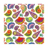 Hand Draw Sea Shells Pattern Posters by Andriy Lipkan