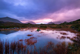 Sunset on a Lochan at Sligachan on the Isle of Skye, Scotland UK Photographic Print by Tracey Whitefoot
