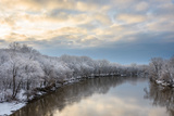 Spring Snow Covers Trees Along the Minnesota River in Bloomington Photographic Print by Joseph Mamer