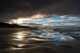 Dramatic Sunset Light on the Beach at Bamburgh, Northumberland England UK Photographic Print by Tracey Whitefoot