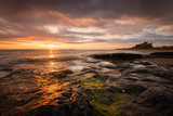 Sunrise on the Beach at Bamburgh, Northumberland UK Photographic Print by Tracey Whitefoot
