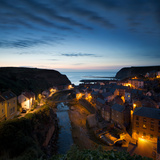 The Fishing Village of Staithes on the Yorkshire Coast, Just before Dawn Photographic Print by John Potter