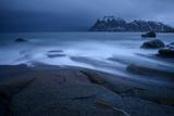 Surf at the Beach, Utakleiv, Lofoten, Norway Photographic Print by Klaus-Peter Wolf