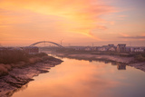 The River Usk as it Flows Through Newport City Towards the Severn Estuary Photographic Print by Chris Godfrey