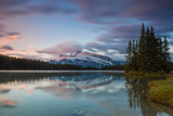 Two Jack Lake, Mount Rundle, Banff National Park, Canadian Rockies, Alberta Province, Canada Photographic Print by Klaus-Peter Wolf