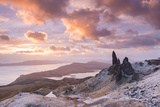 Winter Sunrise Above the Old Man of Storr on the Isle of Skye, Scotland. Winter (December) 2013 Photographic Print by Adam Burton