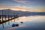 Watendlath Jetty, Lake Derwent Water, Borrowdale, Cumbria, England Photographic Print by John Potter