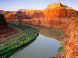 """The """"Colorado River"""" at Sunrise Sunrise. [Canyonlands National Park] Utah Photographic Print by George H.H. Huey"""