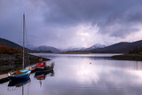 Small Sailboats on the Bank of Loch Leven. Glencoe Scotland UK Photographic Print by Tracey Whitefoot