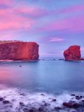 Sweetheart Rock at Sunset. Lanai, Hawaii Photographic Print by Dennis Frates