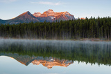 The Bow Range Reflected in Herbert Lake Photographic Print by Klaus-Peter Wolf
