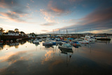 Dusk in the Harbour at Paignton, Devon England UK Photographic Print by Tracey Whitefoot