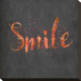 Smile - Square Stretched Canvas Print by  Lebens Art