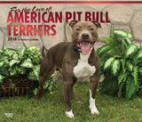 For the Love of American Pit Bull Terriers Deluxe - 2018 Calendar Kalenders