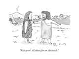 """""""This year's all about fur on the inside."""" - New Yorker Cartoon Premium Giclee Print by Danny Shanahan"""