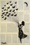 Loui Jover - Butterflying Affiches par Jover Loui