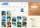 Paradise - 2018 Desk Pad Calendar Kalenders