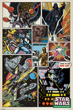 Star Wars - Retro Comic Affiches
