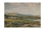 River Scene with Cottages, c1887 Giclee Print by Thomas Collier