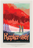 NASA/JPL: Visions Of The Future - Kepler-186F Poster