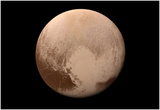 Pluto Heart Prints by  NASA