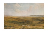 The Downs near Lewes (Seaford Cliff in the distance), c1887 Giclee Print by Thomas Collier