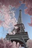 David Clapp - Eiffel Tower Infrared, Paris Posters av Clapp David