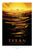 NASA/JPL: Visions Of The Future - Titan Kunstdruck