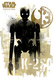 Star Wars Rogue One - K-2S0 Grunge Posters