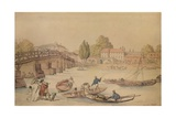 Hampton Bridge, 1800 Giclee Print by Thomas Rowlandson