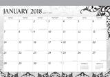 Ebony and Ivory - 2018 Desk Pad Calendar Kalenders