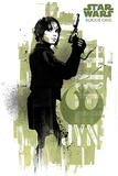 Star Wars Rogue One - Jyn Grunge Plakater