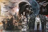 Star Wars Rogue One - Rebels Vs Empire Kunstdruck