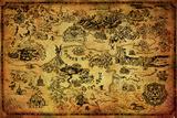 The Legend Of Zelda - Hyrule Map Plakater