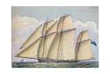 Armed Lugger Close Hauled With All Sail Set, 1825 Giclee Print by John Rogers