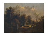 The Edge of the Forest, with Farm Cart and Cattle, c1811 Giclee Print by John Crome