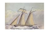 American Topsail Schooner, 1825 Giclee Print by John Rogers