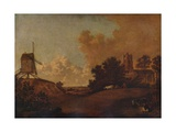 Old Orford Church and Mill, Suffolk, c1782 Giclee Print by John Crome