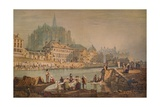 Cathedral Town on a River, c1825 Giclee Print by Samuel Prout