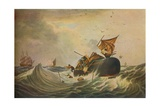 South Sea Whale Fishery, 1836 Giclee Print by Edward Duncan