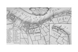 A Plan of Rotherhithe, 1755, (1912). Artists: Unknown, John Stow Giclee Print by John Stow