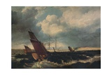 Guardship off the Nore, c1844 Giclee Print by Clarkson Stanfield
