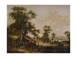 Landscape, with Pool and Tree in foreground, 1828 Giclee Print by Patrick Nasmyth