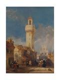 The Tower of the Church of San Nicolás de la Villa, Córdoba, 1834 Giclee Print by David Roberts