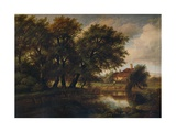 Old Cottages on the Brent, looking towards Harrow, 1830 Giclee Print by Patrick Nasmyth