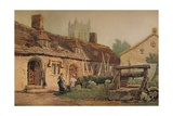 Cottages at Glastonbury, c1819 Giclee Print by Samuel Prout