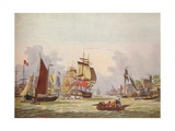 The Thames at Limehouse, c1780 Giclee Print by Johann Ziegler