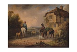 Off to Market, 1828 Giclee Print by Edmund Bristow